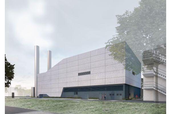 Visualisierung einer Fabrik.