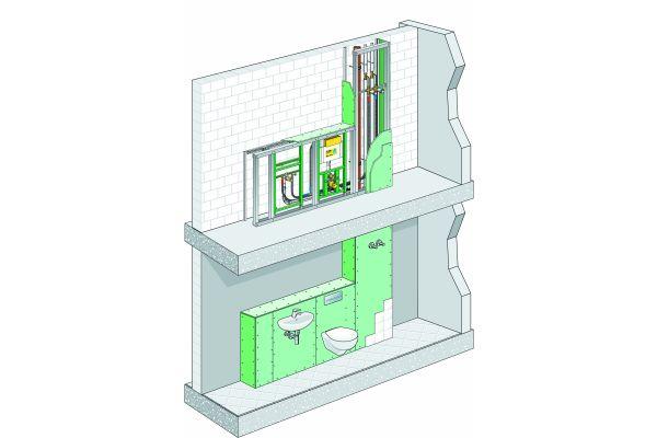 """Für gängige Vorwandsysteme – wie """"Viega Eco Plus"""" – bieten die Hersteller schalltechnische Prüfzeugnisse."""