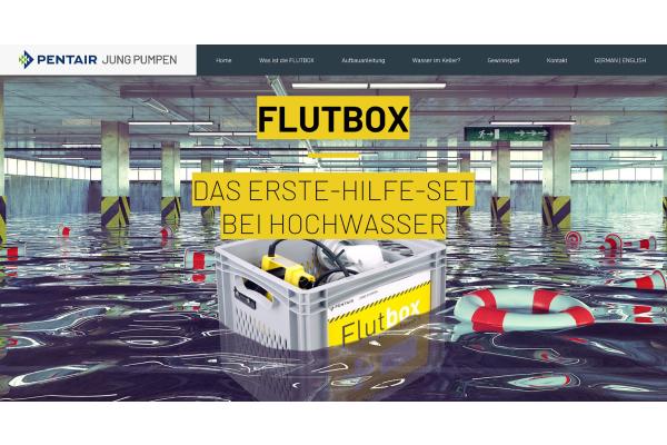 """Neue """"FLUTBOX""""-Webseite"""