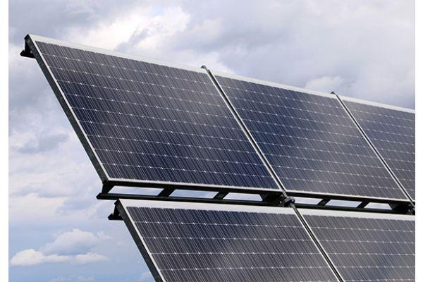 Eine Solarenergieanlage.