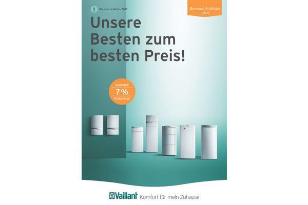Werbebild zur Vaillant-Brennwertaktion 2018.