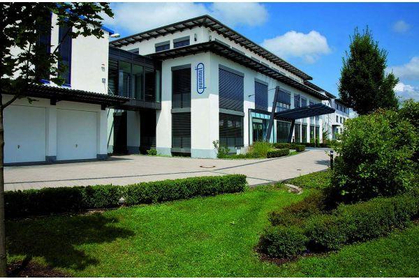 Die Firmenzentrale der Hummel AG von außen.