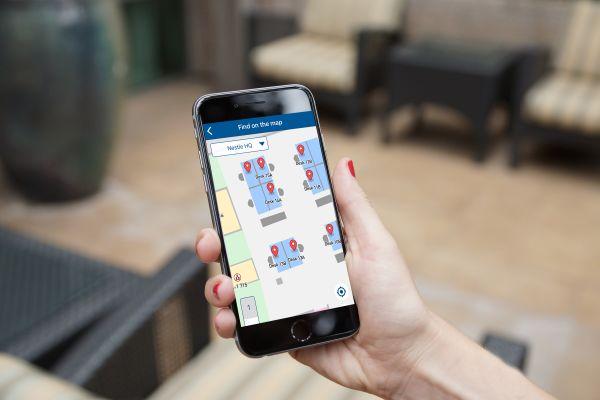 Eine App wird auf einem Smartphone-Bildschirm angezeigt.