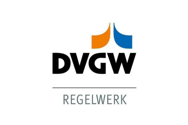 Das Bild zeigt das DVGW-Logo.