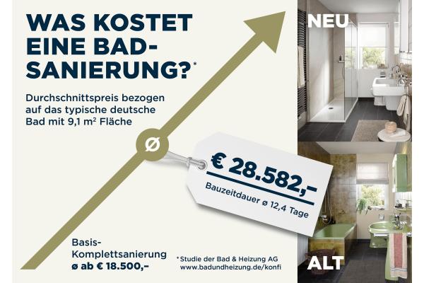 Was kostet das deutsche Durchschnitts-Bad?
