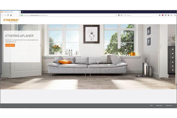 Startseite des Online-Planungstool