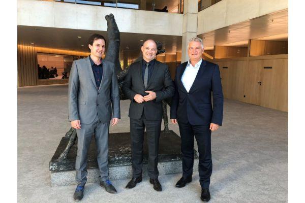 Das Bild zeigt Joachim Stücke, Fabian Haun und Stefan Teufel (m.).