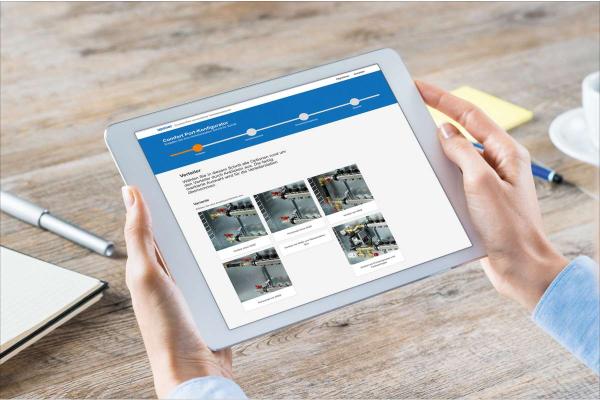 Vormontierte Verteilerstationen online konfigurieren