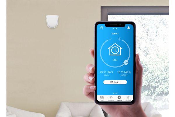 Ein Smartphone-Bildschirm mit geöffneter getAir-App.