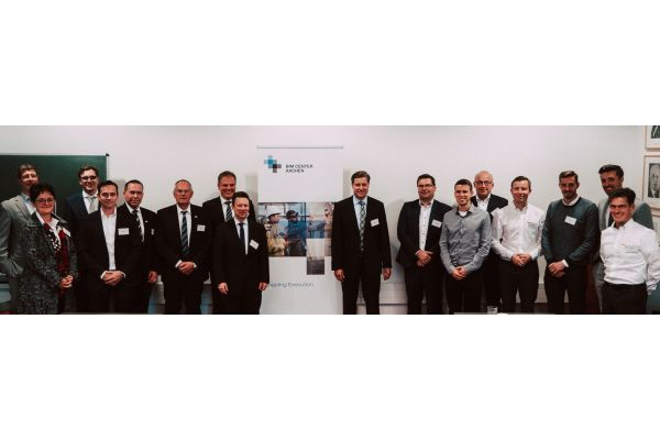Gruppenbild von der Eröffnung des BIM Center Aachen.