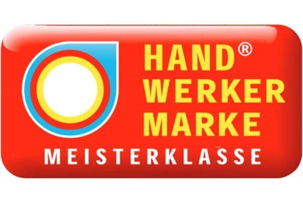 Das Bild zeigt das Logo der Handwerkermarke.
