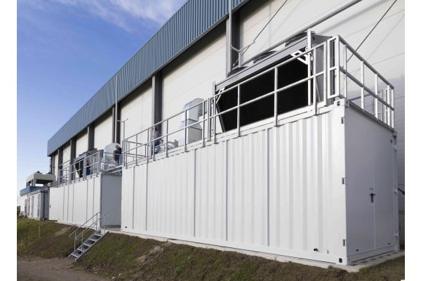Außenansicht der Energiezentralen des Tiefkühlkost-Vertriebs in Döbeln.