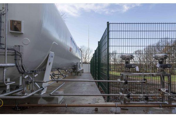 Spezialtank zur Lagerung von tiefkaltem LNG.