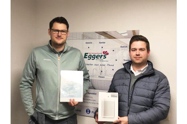 Das Bild zeigt Hannes Berg (rechts) und Leif Eggers.