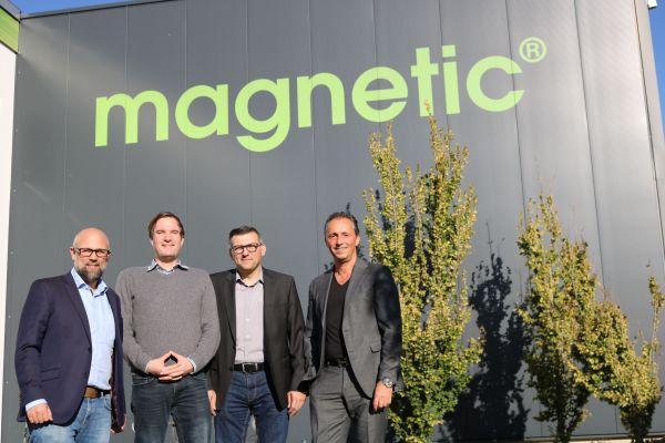 Ralf Traunfelder-Pietsch, Stefan Krämer, Alexander Bollheimer und magnetic-Geschäftsführer Michael Bader.
