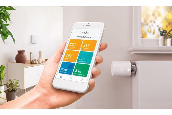 Tado-App auf einem Smartphone-Bildschirm.