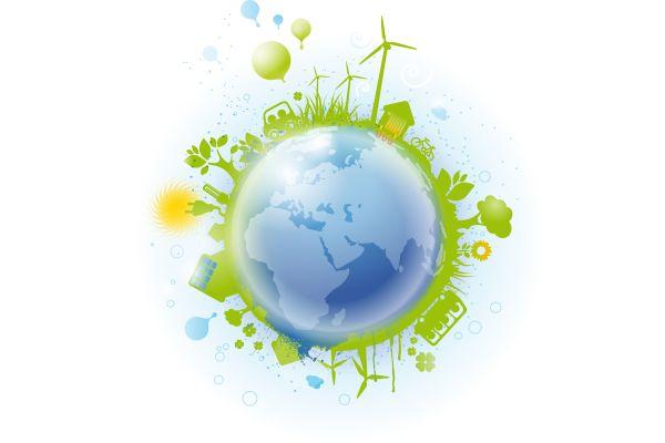 Das Bild zeigt eine künstlerische Darstellung der Erde.