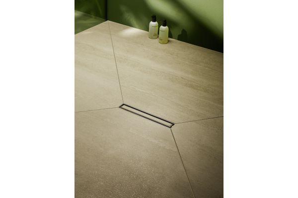 Das Bild zeigt die neue Dallmer-Duschrinne.