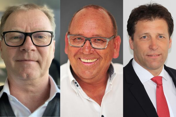 Das Bild zeigt die neuen Vertriebsbetreuer (v.l.n.r.): Günter Eisner, Wolfgang Müller und Wolfgang Sonntag.