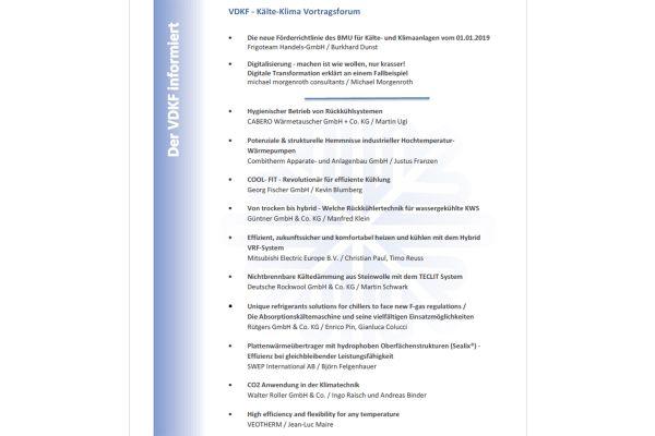 Das Bild zeigt das Programm zur ISH.