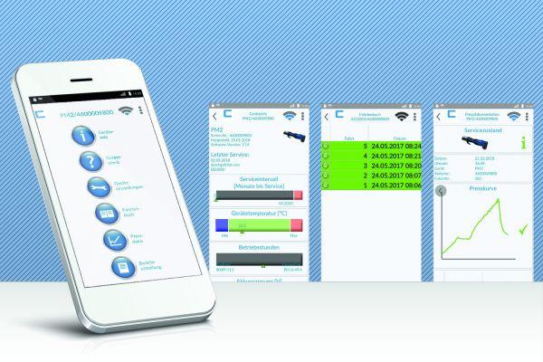 """Das Bild zeigt ein Tablet mit der neuen """"Check""""-App."""