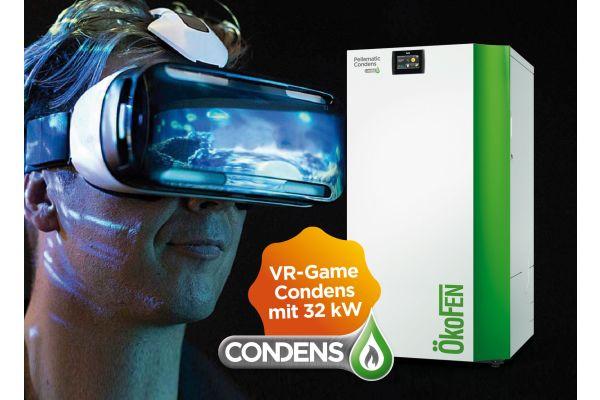 Ein Mann mit VR-Brille neben einem