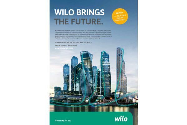 ISH-Werbung von Wilo.