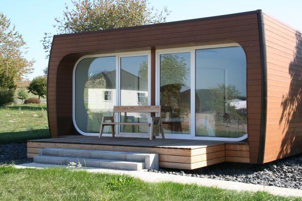 Ein Fertighaus der Hanse Haus GmbH von außen.