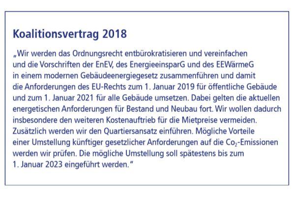 Auszug aus dem Koalitionsvertrag 2018 von SPD und CDU/CSU.
