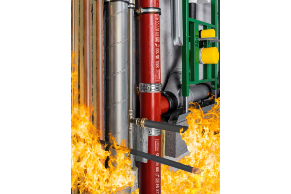 """Neu: """"Düker DBS"""" - die einfachste Brandschutzlösung für die Mischinstallation"""