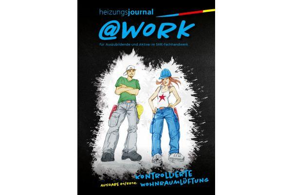 Cover der @work-Ausgabe zum Thema Kontrollierte Wohnraumlüftung.