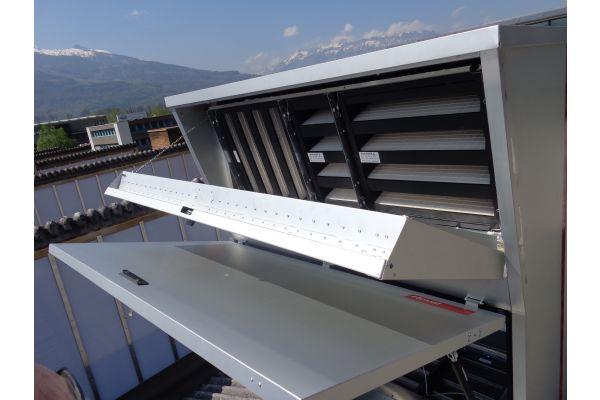 Ein Filtersystem auf einem Gebäude.