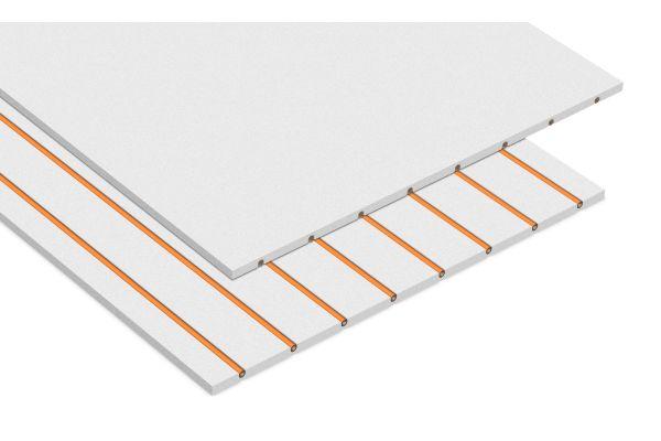 Grafik einer Modul-Platte für die Wandheizung.