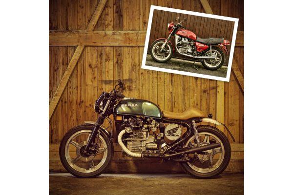 """Das Bild zeigt eine """"CX500""""-Honda-""""Güllepumpe"""" von 1981."""