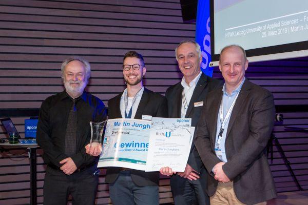 Das Bild zeigt Martin Junghans, Prof. Dr.-Ing. Michael Günther, Markus Friedrichs sowie Dr. Karsten Hoppe.
