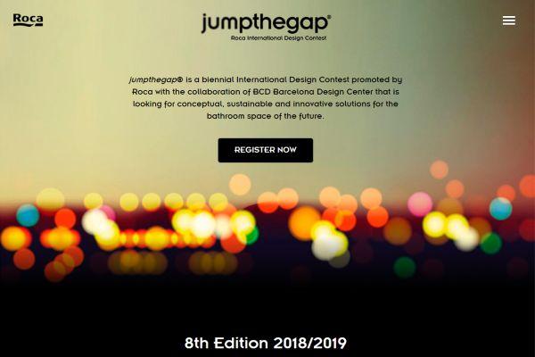 Das Bild zeigt die Website des Designwettbewerbs.