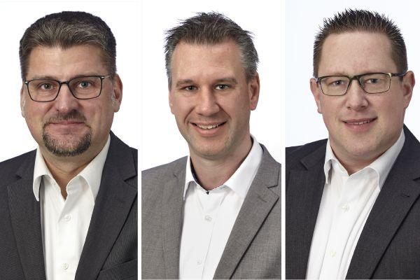 Das Bild zeigt Thomas Neumann, Marko Hellwig, Torsten Fanenbruck.