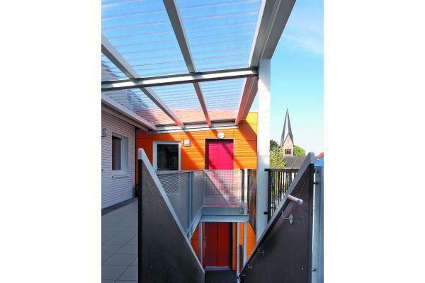 """Alles wurde gemeinsam entschieden. Der beauftragte Architekt Heinrich Hinsenhofen brachte die vielen Vorstellungen für das Projekt """"Buntes Haus"""" von Anfang an unter einen Hut."""