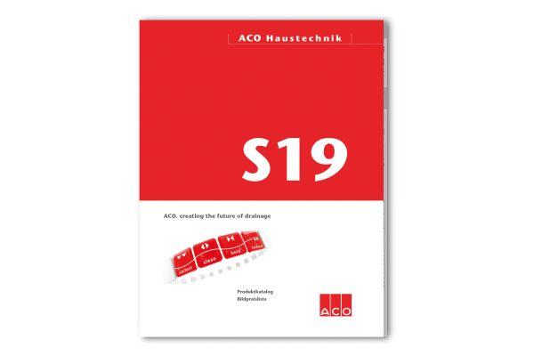 """Das Bild zeigt das Katalogcover von """"S19""""."""