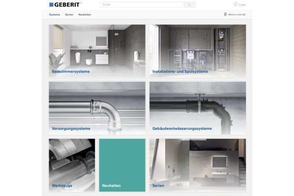 Das Bild zeigt einen Screenshot des neuen Online-Produktkatalogs.