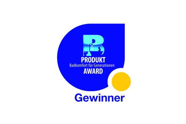 """Das Bild zeigt ein Bild vom Produkt-Award """"Badkomfort für Generationen""""."""