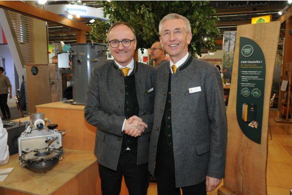Dr. Helmut Matschnig und KWB-Gründer Erwin Stubenschrott.