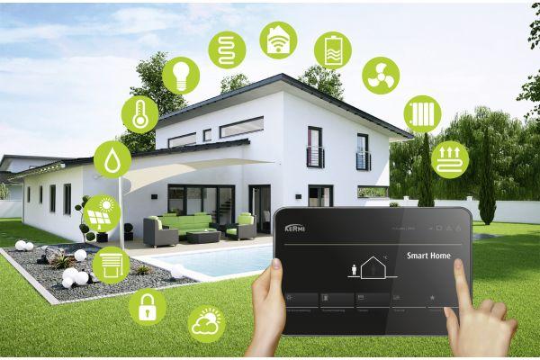 Übersichtsgrafik zu den Komponenten des Kermi Smart Home.