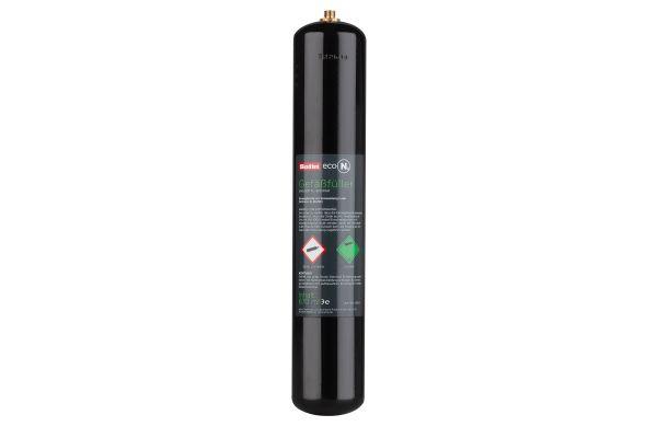 Eine Druckgasflasche.