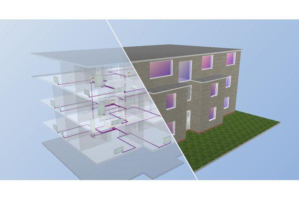 Eine Simulation eines Hauses in 3D mit