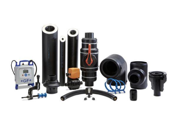 Komponenten des Rohrleitungssystems