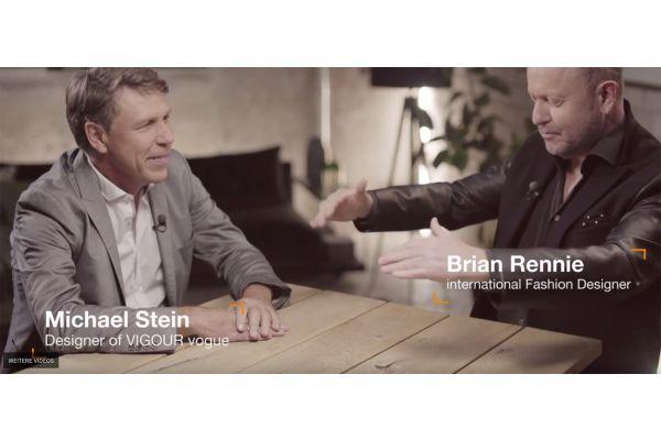 Das Bild zeigt Produktdesigner Michael Stein und Modeschöpfer Brian Rennie.