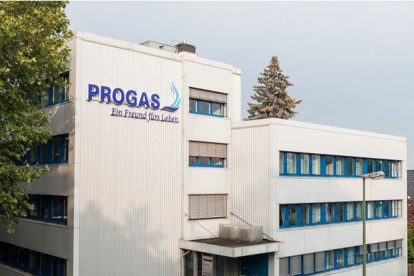 Der Firmensitz von Progas von außen.