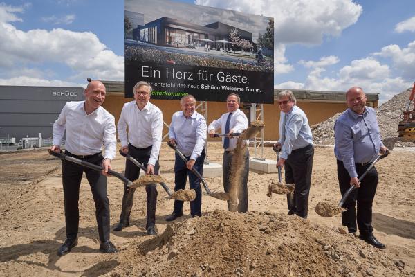 Baubeginn für neues Schüco-Besucherzentrum