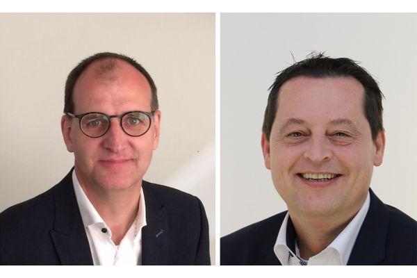 Das Bild zeigt Bernard Becking und Stefan Druijf.